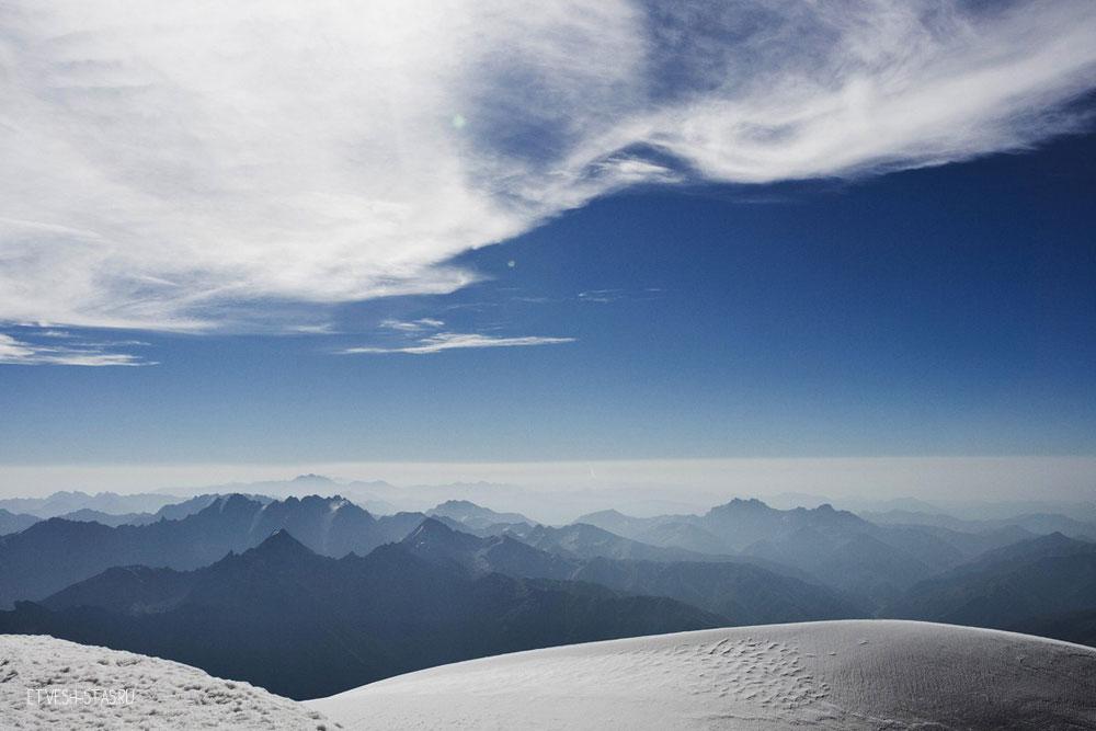 Виды с вершины. Высота 5033 метров.