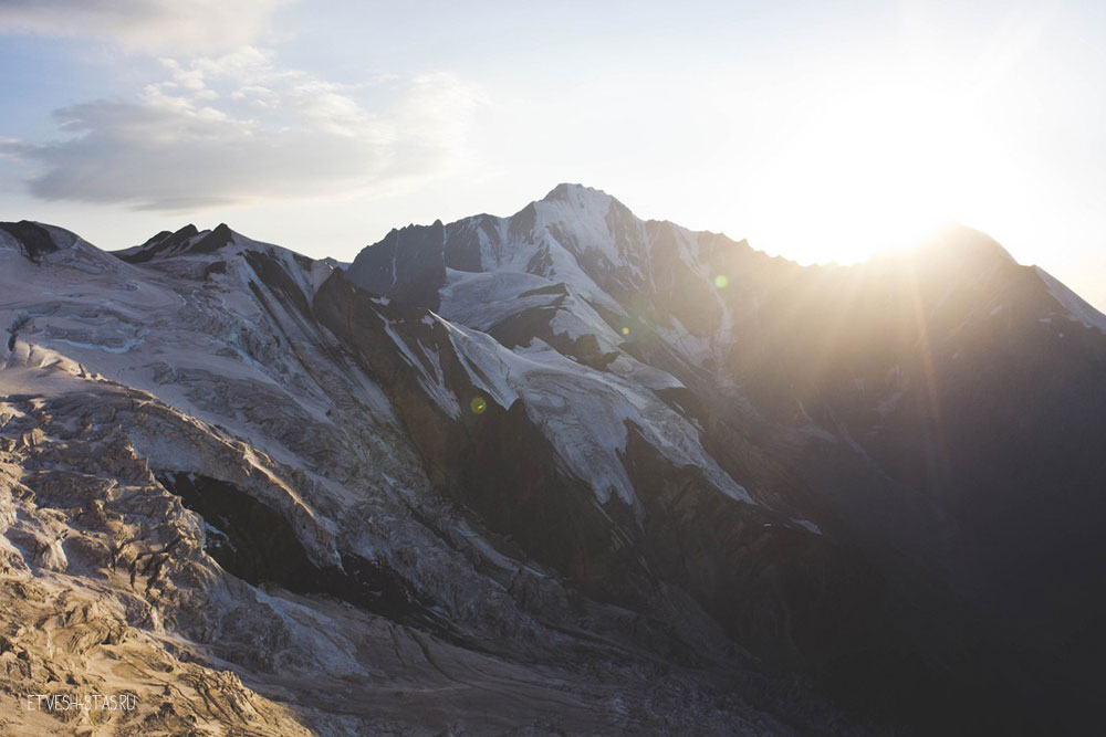 Закат в третьем лагере. Высота 4200 метров.